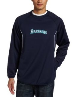 MLB Seattle Mariners Long Sleeve Crew Neck Thermabase Tech Fleece Pullover  Sports Fan Sweatshirts  Sports & Outdoors