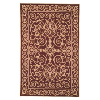 Safavieh Chelsea HK11C Iron Gate Area Rug   Red   Area Rugs