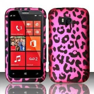 Nokia Lumia 822 Case (Verizon) Rich Leopard Design Hard Cover Protector with Free Car Charger + Gift Box By Tech Accessories Cell Phones & Accessories