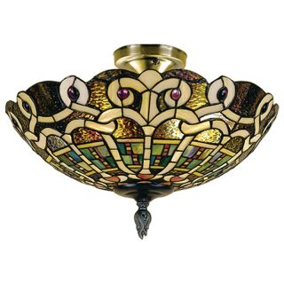 Dale Tiffany Casablanca Flush Mount Light   Tiffany Ceiling Lighting