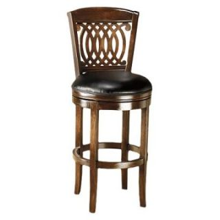 Hillsdale Vienna 24 in. Swivel Counter Stool   Tobacco   Bar Stools