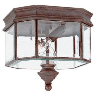 Sea Gull Hill Gate Outdoor Ceiling Light   9H in. Textured Rust   Outdoor Ceiling Lights