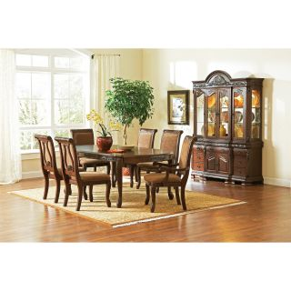 Steve Silver 7 Piece Harmony Dining Table Set   Dark Oak   Dining Table Sets