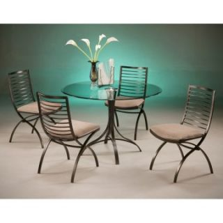 Pastel Kayak Point 5 piece Glass Top Dining Table Set   Dining Table Sets