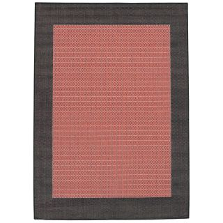 Couristan Recife Checkered Field Indoor/Outdoor Area Rug   Terra Cotta/Black   Area Rugs