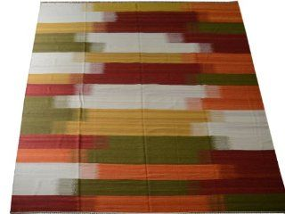 Area Rug, 10'X14' Durie Kilim Hand Woven 100% Wool Flat Weave Rug Sh10523   Hand Knotted Rugs
