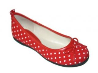 Girls Red Polka Dot Bow Flats (4) Flats Shoes Shoes