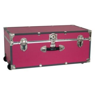 Locking Trunk with Wheels Pink   Storage Trunks