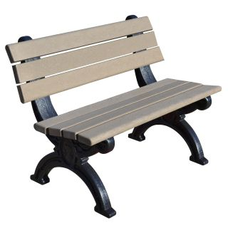 Silhouette 4 ft. Commercial Grade Armless Park Bench   Outdoor Benches