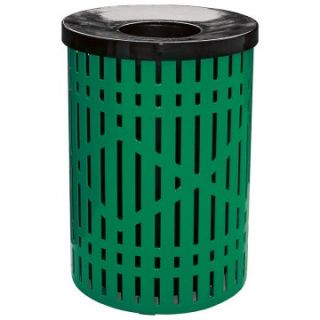 Leisure Craft 32 Gallon Diamond Trash Receptacle with Liner and Lid
