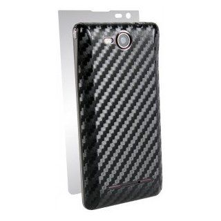 LG Lucid 4G 4 G VS840 VS 840 Cell Phone Black Carbon Fiber Texture Full Body Shield Guard   INCLUDES 1 BACK AND SIDE, 1 SCREEN PROTECTOR Cell Phones & Accessories