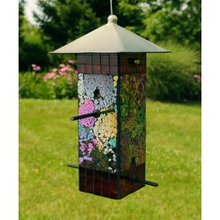 Sequin Bird Feeder Square   Green/Purple   Bird Feeders