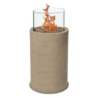Piazza 38 in. Gas Fire Column   Sand   Fire Pits