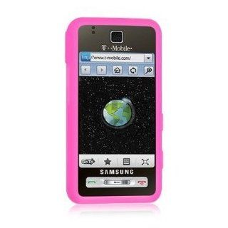 Premium Pink Silicone Soft Rubber Cover Case for AT&T Samsung Eternity SGH A867   Non Retail Packaging Cell Phones & Accessories