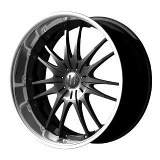 "Helo HE845 Gloss Black Machined Wheel   (18x8""/5x115, 120mm) Automotive"
