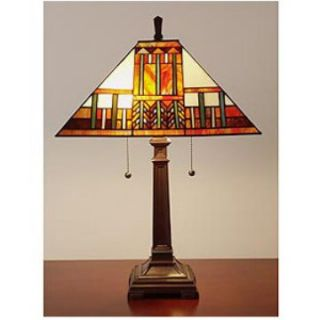 Tiffany and Mission Style Table Lamp   Table Lamps