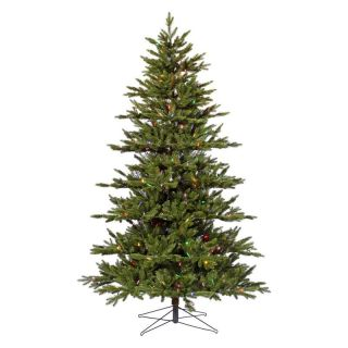 7.5 ft. Noble Fir Medium Pre lit Multi LED Christmas Tree   Christmas Trees