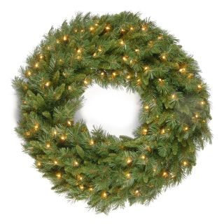 36 in. Tiffany Fir Pre Lit Christmas Wreath   Christmas Wreaths