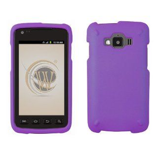 Dark Purple Rubberized Hard Case Protector Phone Cover for Samsung Rugby Smart (SGH i847) AT&T Cell Phones & Accessories