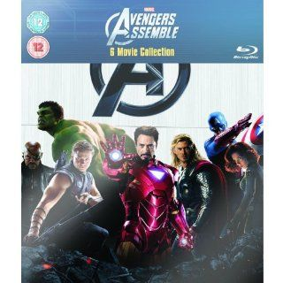 Marvel Avengers Assemble 6 Movie Collection Iron Man 1 2, Incredible Hulk, Thor, Captain America, and Avengers Assemble [Blu Ray] NEW Movies & TV