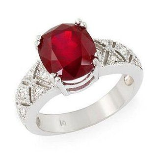 Vintage Style 5.2 Ct Natural Ruby & Diamonds Ring 14k Gold Passion Gems Jewelry