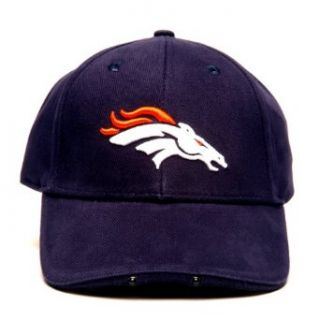 NFL Denver Broncos Dual LED Headlight Adjustable Hat  Sports Fan Novelty Headwear  Clothing