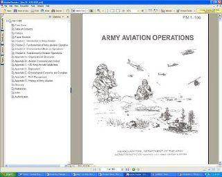 U.S. Army FM 1 100 Army Aviation Operations Field Manual Guide Book on CD ROM
