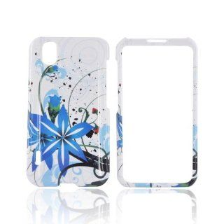 For LG Marquee LS855 Blue Flower Splash White Hard Plastic Shell Case Snap On Cover Cell Phones & Accessories