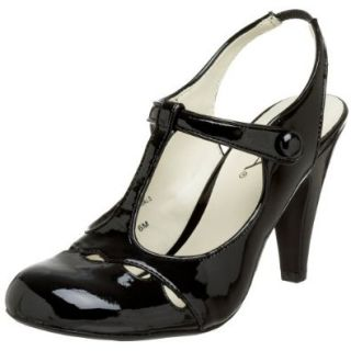 MIA Women's Michelle T Strap Mary Jane, Black Patent, 6 M US Shoes