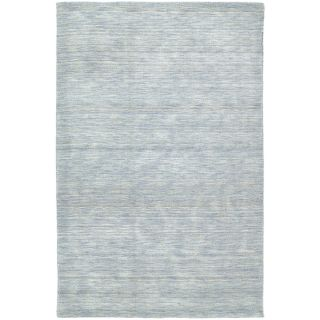 Gabbeh Hand tufted Light Blue Rug (5 X 76)