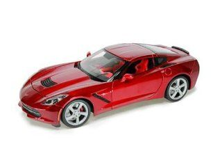 2014 Chevrolet Corvette C7 Stingray Metallic Red 1/18 by Maisto 31182 Toys & Games