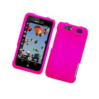 Motorola Atrix HD MB886 Hot Pink Hard Cover Case Cell Phones & Accessories