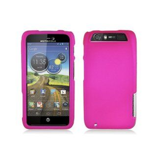 Hot Pink Hard Cover Case for Motorola Atrix HD MB886 Cell Phones & Accessories