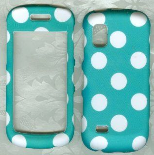 Turquoise Polka Dot Samsung Solstice Sgh a887 Phone Case Cover Cell Phones & Accessories