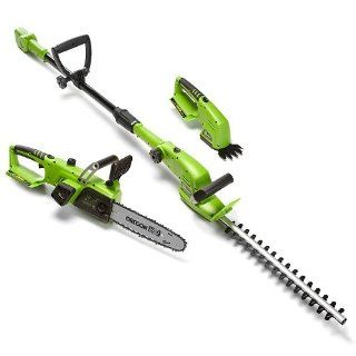 Chameleon Trimming Package 18 Volt Cordless Lithium Ion Multi Tool System LG09200 11 by SunZi PRODUCTS INC.   Power Hedge Trimmers