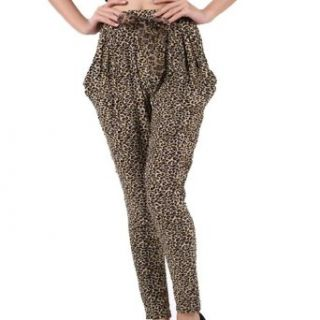 SMARSTAR Casual Women Leopard Print Harem Pants Trousers Legging (916 08#) Clothing
