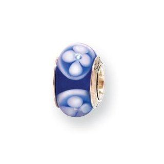 Sterling Silver Reflections Kids Blue Murano Glass Bead QRS917 Jewelry