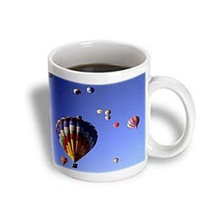3dRose Hot Air Balloons, Albuquerque, New Mexico US32 BBA0010 Bill Bachmann Ceramic Mug, 11 Ounce Kitchen & Dining
