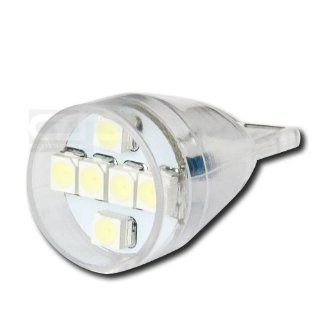 LED T15 6SMD 3528 WH, T15 Adapter 3528 901 921 939 918 6 SMD 12V Bright White Led Wedge Light for Interior Dome Lamp Trunk Door Panel Center Map Console Bulb Automotive