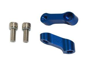 10mm CNC Motorcycle Mirror Riser Extender   Blue   Right Hand Bolt and Mirror Mount Honda CBR 600 900 929 954 1000 RR, Kawasaki Ninja ZXR, Suzuki GSXR 600 750 1000 Bandit SV650, Yamaha R6 R1   Pair Automotive