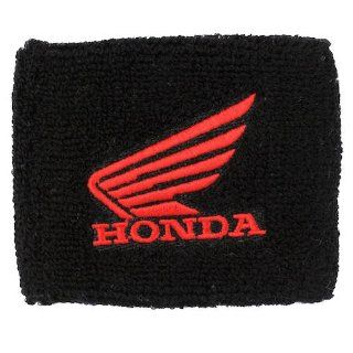 Honda Wing Black/Red Brake Reservoir Sock Cover Fits CBR, 600, 1000, 600RR, 1000RR, 954, 929, RC51 Automotive
