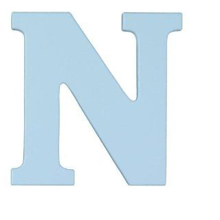 "Wooden Letter ""N"" Color Sky Blue Toys & Games"