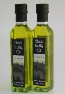 D. Della Terrra Black Winter Truffle Oil (Set of 2)  Extra Virgin Olive Oils  Grocery & Gourmet Food