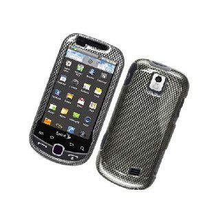 Samsung Intercept M910 SPH M910 Black Carbon Fiber Print Glossy Cover Case Cell Phones & Accessories