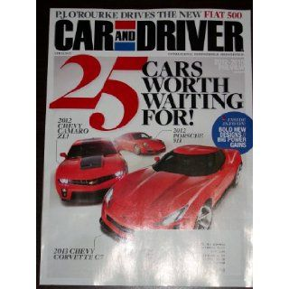 Car and Driver April 2011 25 Cars Worth Waiting For 2012 Camaro ZL1 Porsche 911 Corvette C7 Various Books