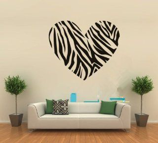 "23.6"" X 27.5"" DIY Black Zebra Stripe Heart Love Wall Art Decal Saying Lettering Quotes Sticker Decal Sign Teen Girls Bedroom Decor Mural Art Room Home   Nursery Wall Decor"