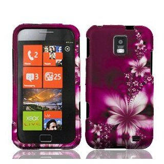 Samsung Focus S i937 i 937 Rose Red Floral Flowers Design Snap On Hard Protective Cover Case Cell Phone Cell Phones & Accessories