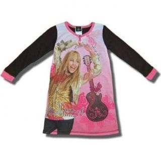 "Hannah Montana ""Part time Pop Star"" Long sleeve Dorm shirt for girls   6/6X Nightgowns Clothing"