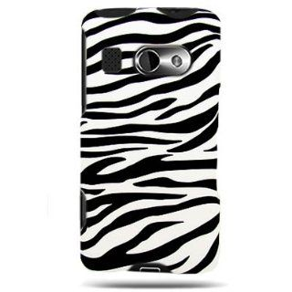 Hard Snap on Shield RUBBERIZED With WHITE BLACK ZEBRA Design Faceplate Cover Sleeve Case for HTC T8788 SURROUND (AT&T) [WCP62] Cell Phones & Accessories