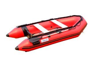 Aquos 9.8 Feet Inflatable Boat Speed Boats Tender Dinghy Rafts   Red  Open Water Inflatable Rafts  Sports & Outdoors